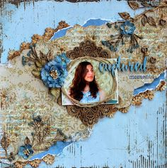 Captured Moments - vintage/shabby chic scrapbook layout
