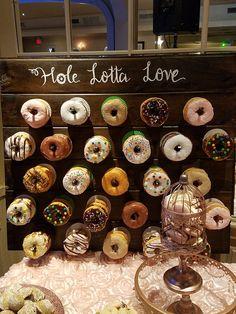 Wood Rustic Custom Donut Wall Board - Up to 84 Donuts - Wedding . Wood Rustic Custom Donut Wall Board - Up to 84 Donuts - Wedding Decorations! Wedding Donuts, Wedding Desserts, Wedding Favors, Wedding Decorations, Donut Wedding Cake, Wedding Cakes, Wedding Invitations, Wedding Sparklers, Wedding Brunch Reception