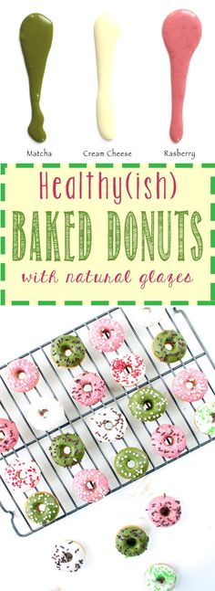 Healthy(ish) Baked Donuts with Naturally Colored Glazes