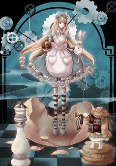 Alice and rabbit head