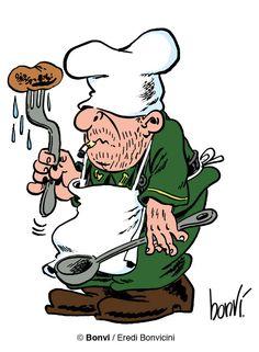 Sturmtruppen-CUOKEN cuoco della cucina del campo, sempre criticato per la qualità del rancio, soprattutto dal Sergenten. Le brodaglie servite dal cuoco sono sempre composte da elementi assurdi e impossibili da mangiare, come olio per motori, pneumatici, persino pezzi di cadavere. Da ricordare l'episodio Il rancio malefiken, dove il cuoco, durante i suoi esperimenti di gastronomia, fa prendere vita con un fulmine al suo rancio, il quale inizia a cibarsi dei malcapitati soldati.