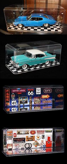 Display Cases and Stands 171135: Nascar Display Cases W Checkered Floor (8) 1:18 Scale Model Cars Trucks Dolls -> BUY IT NOW ONLY: $118.62 on eBay!