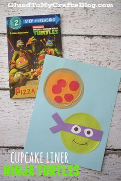 Cupcake Liner Ninja Turtles {Kid Craft}