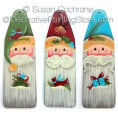 A Trio of Santas ePattern - Susan Cochrane