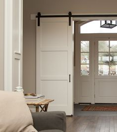 Our 3-Panel barn door is a more contemporary twist on the popular 5-Panel barn door. Uniformity and structure that works well with with almost any setting.