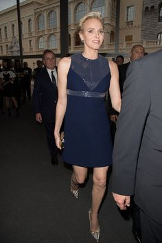 Princess Charlene of Monaco wearing Louis Vuitton. | 44 Times the Royals Were So Ridiculously High Fashion, We Couldn't Believe Our Eyes | POPSUGAR Fashion