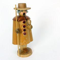 "Erzgebirge Germany Vintage Christmas Incense Smoker Nutcracker 6"" - AS IS"