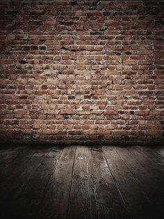 Grunge Brick Wall with Wood Floor / 047