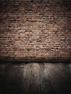 Grunge Brick Wall with Wood Floor / 047