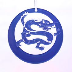 Chinese Dragon Laser-Etched Ornament