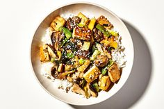 This super-savory tofu and mushroom stir-fry is a flavor-packed vegetarian main that comes together in less than a half hour, flat.