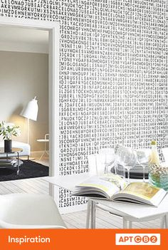 I've long been a fan of graphic wall papers, they add instant personality to a room. #APTCB2 #workswithcb2