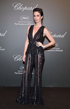 Paz Vega in ELIE SAAB Ready-to-Wear Spring Summer 2017 at the Chopard party during the 70th annual Cannes Film Festival.
