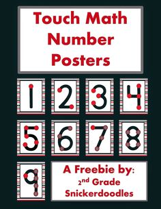 2nd Grade Snickerdoodles: Touch Math Number Posters Freebie