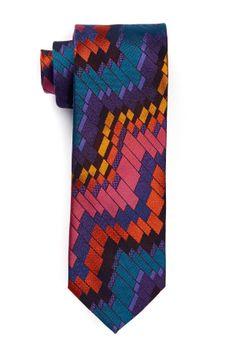 Missoni Color Blocked Silk Tie
