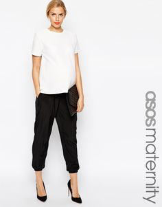 Image 1 of ASOS Maternity Pants With Elastic Cuff