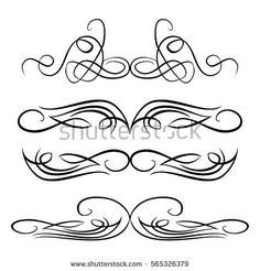 Decorative Monograms And Calligraphic Borders Template Signage Logos Labels Stickers Cards Graphic Design Page Classic Elements For Wedding