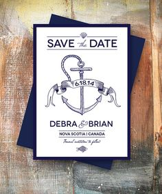 Nautical Wedding Save the Date with Colored Envelopes by PinchMeMoments