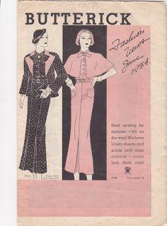 Butterick Fashions Views June 1934 Art Deco Dress by Carrollonline, $10.00