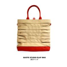 Quote Play Bag Leather & Canvas - Love it!