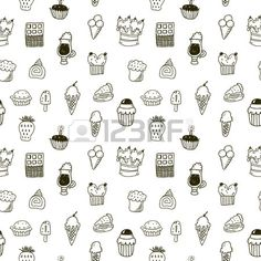 Sweets seamless pattern Stock Vector