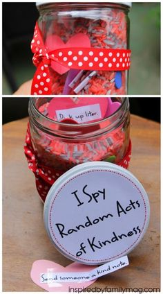 I Spy Random Acts of Kindness Jar! This activity was a fun way that got my kids excited about being kind to each other and even those outside of our family. It's a great activity you can enjoy year round.