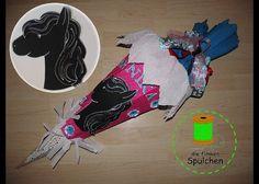 fertige Schultüte Pferdekopf von dieflinkenSpulchen auf Etsy