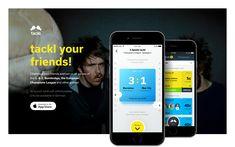 tackl social betting app on Behance