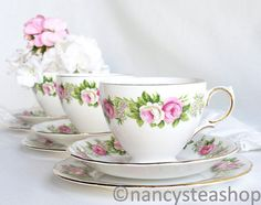 Enchanting tea set vintage Colclough Enchantment by NancysTeaShop, $24.00