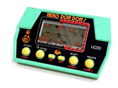 80s Takatoku Toys LCD Handheld Game Neko Don Don Made in Japan 1982 #TakatokuToys