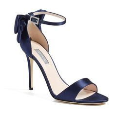 Women's Sjp By Sarah Jessica Parker 'Trance' Ankle Strap Sandal (1,480 SAR) ❤ liked on Polyvore featuring shoes, sandals, twilight satin, sjp shoes, ankle strap shoes, ankle tie shoes, bow sandals and vintage shoes