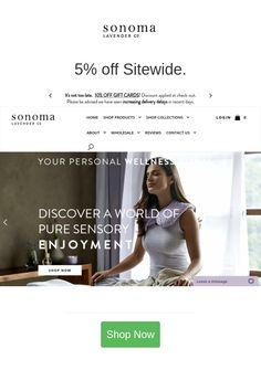 Best deals and coupons for Sonoma Lavender Personal Wellness, 2nd One, Linen Spray, Cute Stuffed Animals, Bath Soap, Light Year, New Trailers, Coupon Codes, Bath And Body