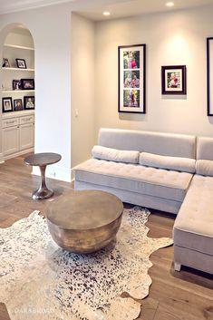 Custom Wide Plank Hardwood Floor By Oak & Broad In Living Room Of Arizona Home
