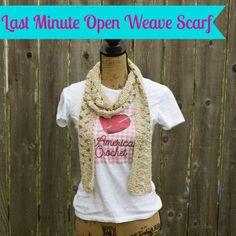 Last Minute Open Weave Scarf Free Crochet Pattern