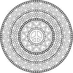 Mandalas colouring page