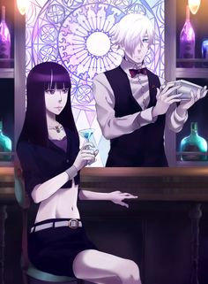 Death Parade | Death Billiards | Madhouse / Decim and Kurokami no Onna / 「休息」/「Relation」のイラスト [pixiv]