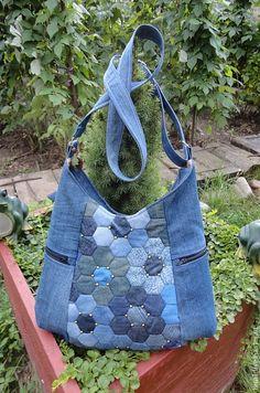 Купить Сумка Понедельник джинс - сумка, сумка женская, сумка ручной работы