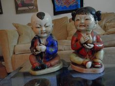 SMILING CHINESE CHILDREN STATUES