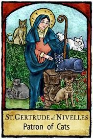 Saint Gertrude of Nivelles, Patron of Cats