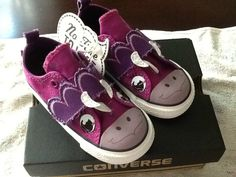 Infant Girls Purple Dinosaur Converse Shoes/ Slip Ons/ Size: 4, 6, 7, 8,9,10 NWB #ConverseOneStar #CasualShoes