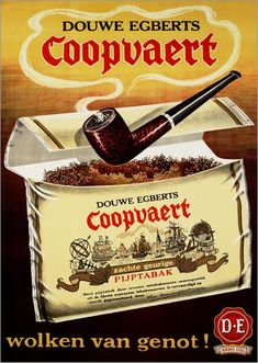 US Seller- Douwe Egberts Coopvaert cigar ads poster pretty wall poster Vintage Advertisements, Vintage Ads, Gravure Illustration, Posters Vintage, Pipes And Cigars, Up In Smoke, Smoking Accessories, Poster Ads, Tobacco Pipes