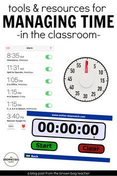 Here are some of my favorite tools and time management strategies for keep our classroom moving and our day rolling ahead Classroom Timer, Classroom Behavior, Future Classroom, School Classroom, Classroom Ideas, Google Classroom, Calm Classroom, Classroom Discipline, School Teacher