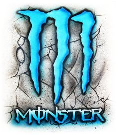 Monster Energy 2 airbrush tshirt Adult and kid by StreaksandBlurs, $12.00