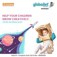 Let your children explore their identities. Allow them to express themselves through the artistic and creative potential of them. Help your children grow creatively. Join Globalart Irumpanam now. Limited Seats Only. Call us for more details: 98956 60000 Kochi, Global Art, Imagination, Identity, Creativity, Join, Explore, Children, Drawings