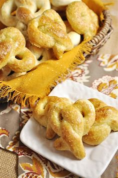 Soft Pretzels Making these tomorrow with nacho cheese dip! Yum!