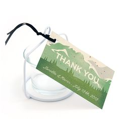 Mountain Seed Paper Favor Tags