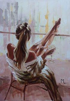 Drawn Art, Paintings For Sale, Original Paintings, Oil Painting On Canvas, Oeuvre D'art, Lovers Art, Female Art, Amazing Art, Buy Art