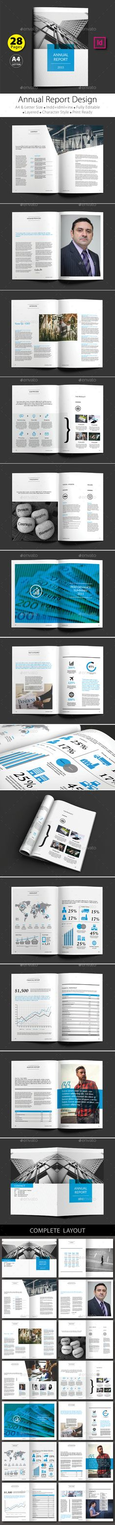 Annual Report Brochure  Indesign Magazine Templates Annual