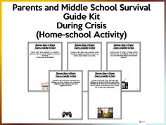 Parents and Middle School Survival Guide Kit - Distance Learning/Homeschool School Resources, Teaching Resources, Middle School, High School, Mindfulness Activities, New School Year, New Teachers, Teaching Materials, Survival Guide