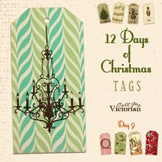 Vintage digital tags - free at http://callmevictorian.com/1060/12-days-of-christmas-tags-day-9/